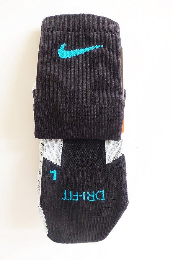 Nike Performance calcetines de fútbol - Negro & Azul Turquesa - Snug & Secure full-calf Unisex Support - Tejido Dry Fit - Talla de Adulto EUR 38 - 42 - UK 5 ...
