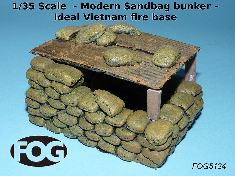 Ideal Vietnam fire base Modern Sandbag bunker 1//35 Scale