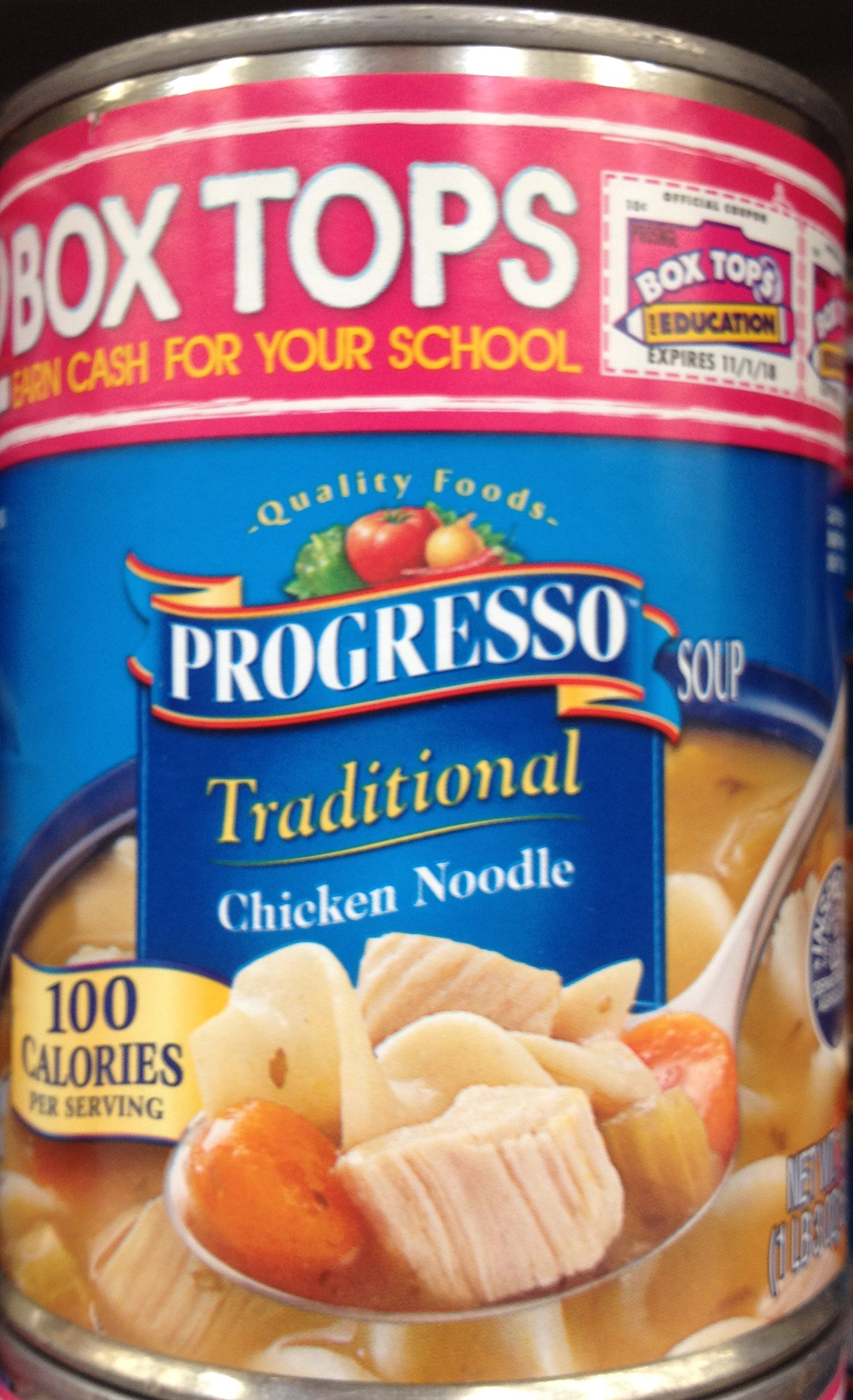 Progresso Traditional Chicken Noodle Soup 19oz Can (Pack of 8)