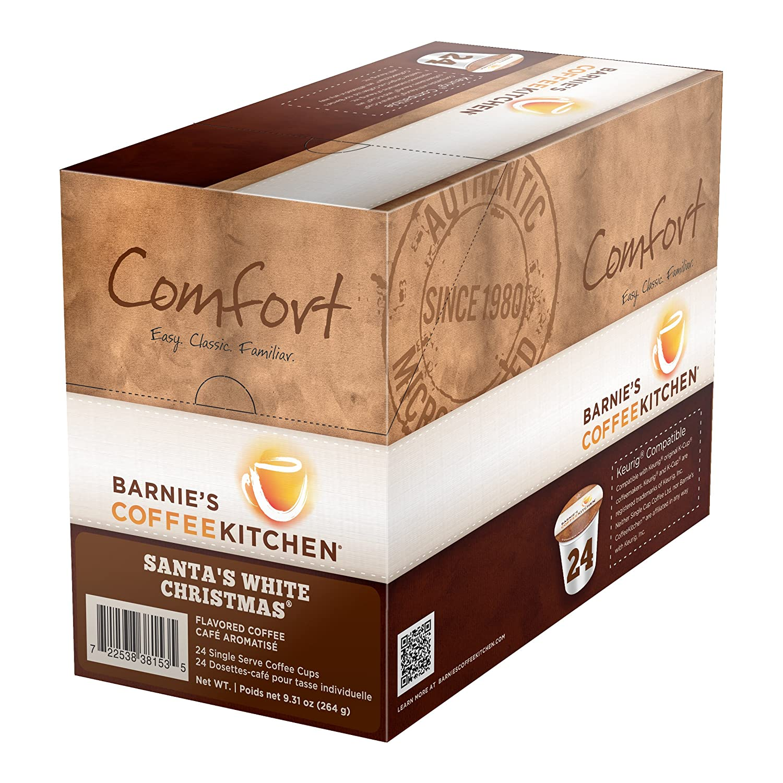 Barnie\'s Coffee & Tea Santa\'s White Christmas Single Serve Coffee, K ...