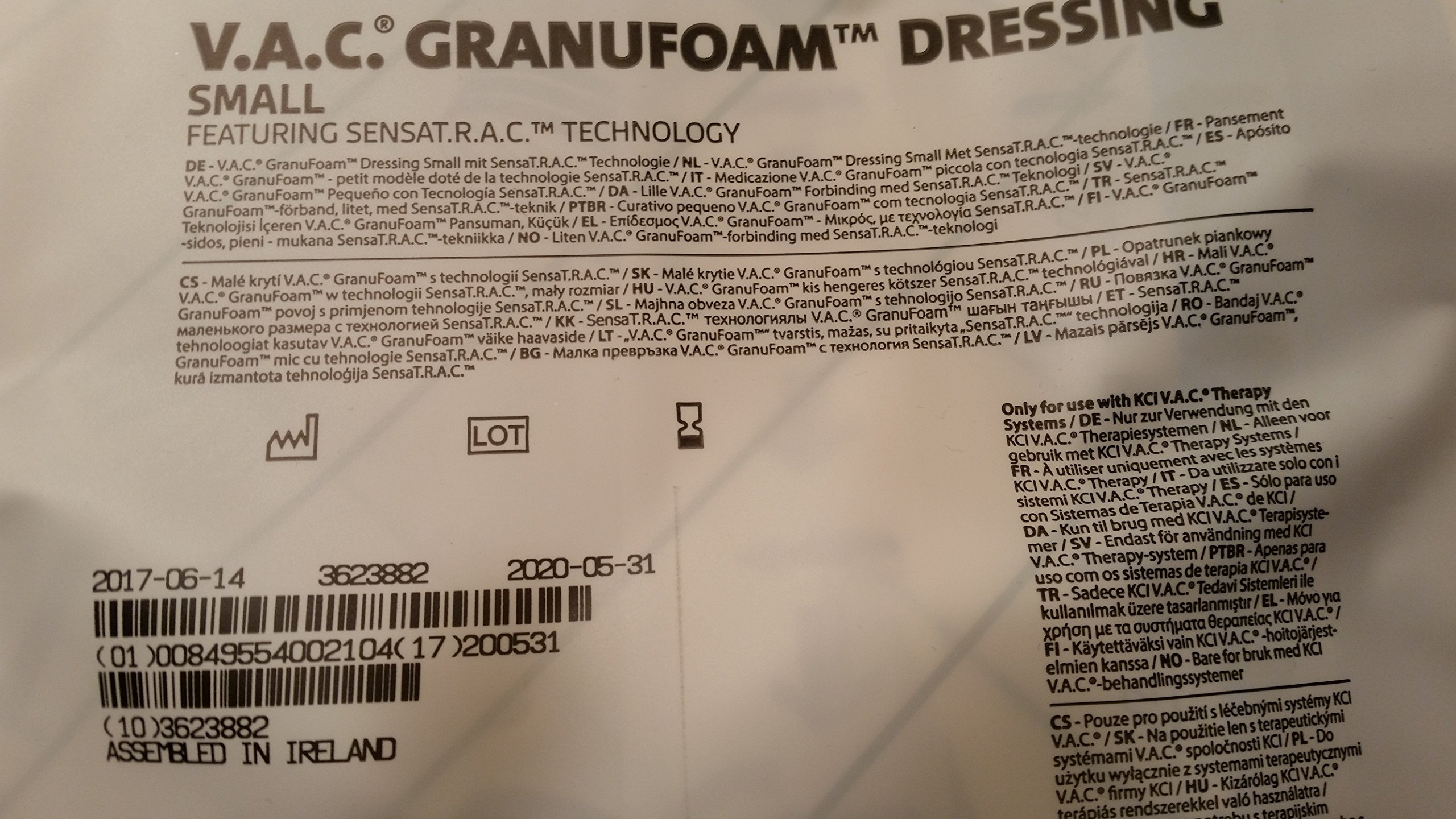 KCI V.A.C.GRANUFOAM DRESSING [SMALL] M8275051/5 by KCI Medical Products (Image #2)