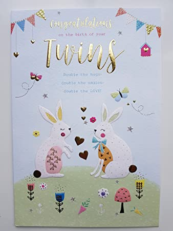 Congratulations It S Twins Greeting Card On The Birth Of Baby