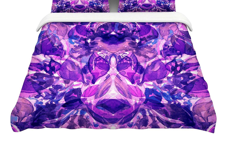 88 x 88, Kess InHouse EBI Emporium Enchanted Forest 8 Featherweight Queen Duvet Cover