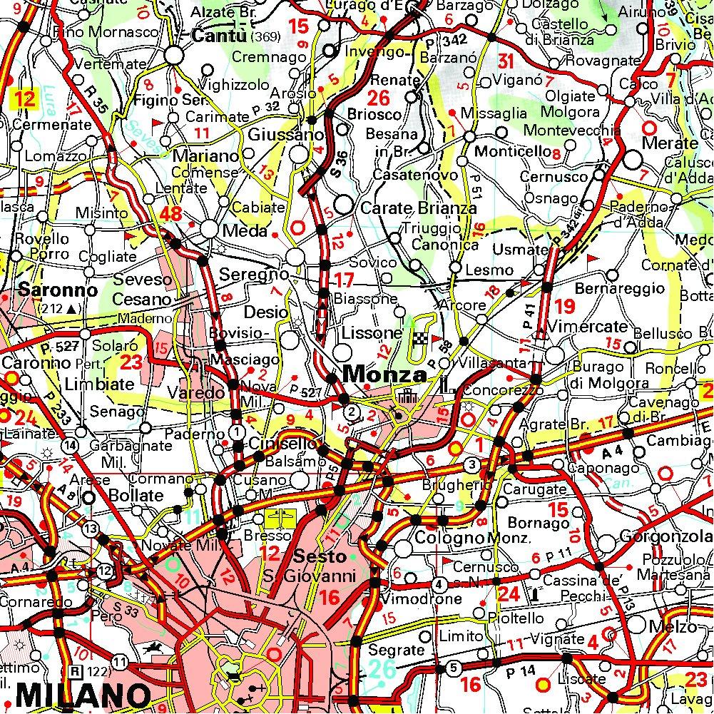 Sicilia Occidentale Cartina Stradale.Amazon It Carta Stradale Italia Nord Ovest Map Aa Vv Libri