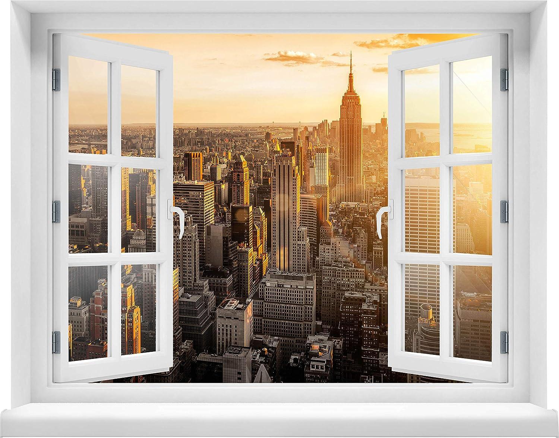Wandmotiv24 Wandmotiv24 Wandmotiv24 3D-Wandsticker New York Aufkleber Mauerdurchbruch M0444 Design 01 - extra groß B075YWJHCT Wandtattoos & Wandbilder 47d619