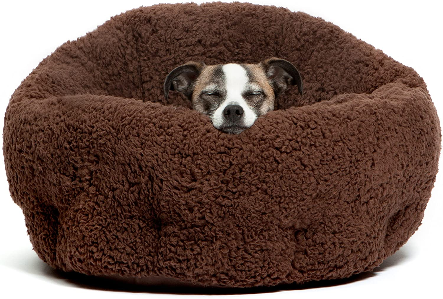 """Best Friends by Sheri OrthoComfort Deep Dish Cuddler (20x20x12"""") - Self-Warming Cat and Dog Bed, Brown : Pet Beds : Pet Supplies"""