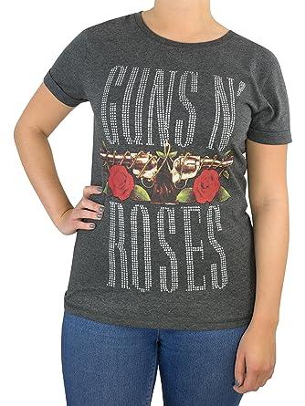 Guns N Roses - Camiseta para Mujer - Guns and Roses: Amazon.es: Ropa y accesorios