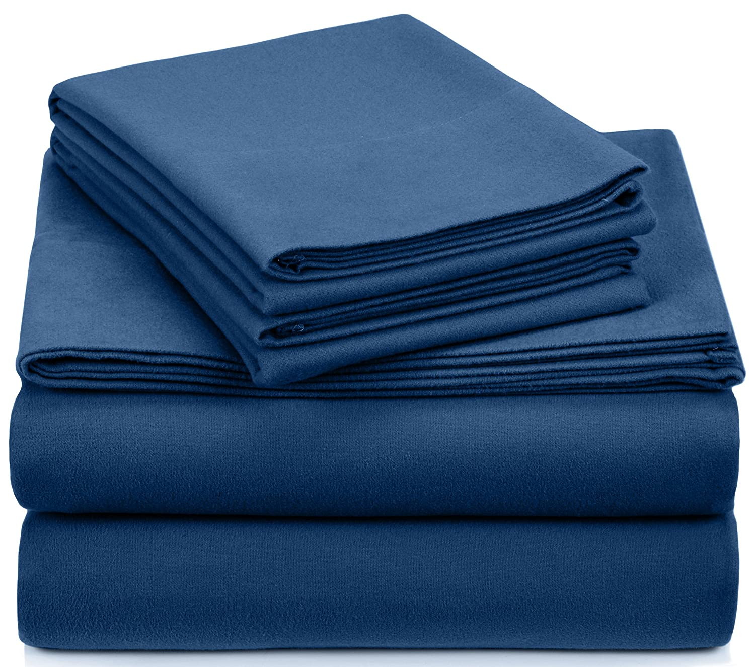 Pinzon Heavyweight Flannel Sheet Set - Queen, Smokey Blue
