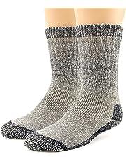 Merino Wool Hiking Socks Thermal Warm Cushioned Crew Outdoor Winter Socks for Men Women 1,3 Pack