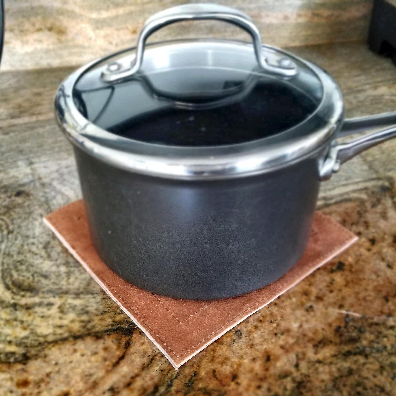 Posh Suede Trivet - Oven Mitt -Pot Holder (2 Pack) - Hostess/Housewarming Gift - Nutmeg