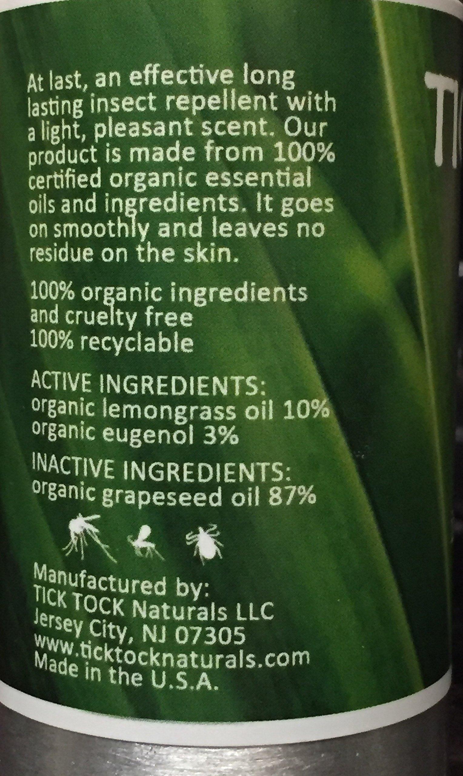Tick Tock Naturals Organic Insect Repellent 2.5 fl. oz