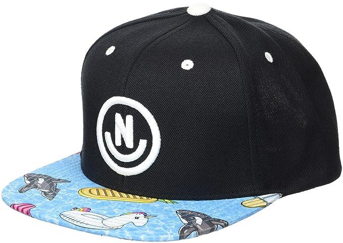 6b3823851044 Neff Men's Daily Smile Pattern Snapback Hats-Custom Adjustable, Black/Pool  Party,