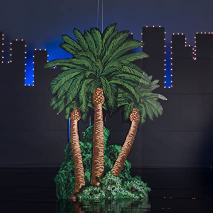amazon com 7 ft 4 in vegas nights palm trees standee home kitchen