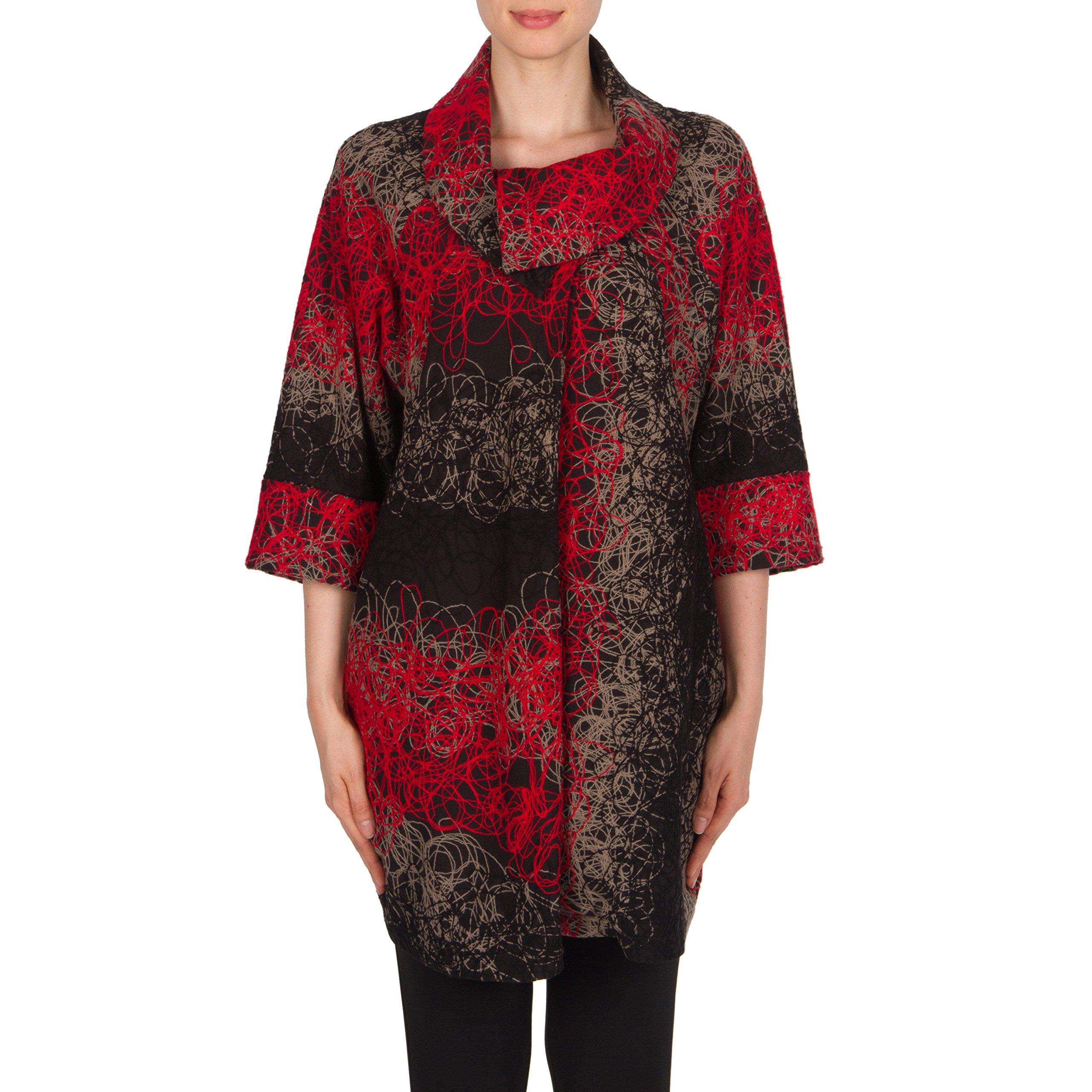 Joseph Ribkoff Textured Long Swing Jacket Style 174606 Size 8