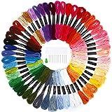 Soledi Polyster Multi - Couleur Broderie Floss Point de Croix Threads Amitié Bracelets Floss  Crafts Artisanat Echeveaux  (50 couleur)
