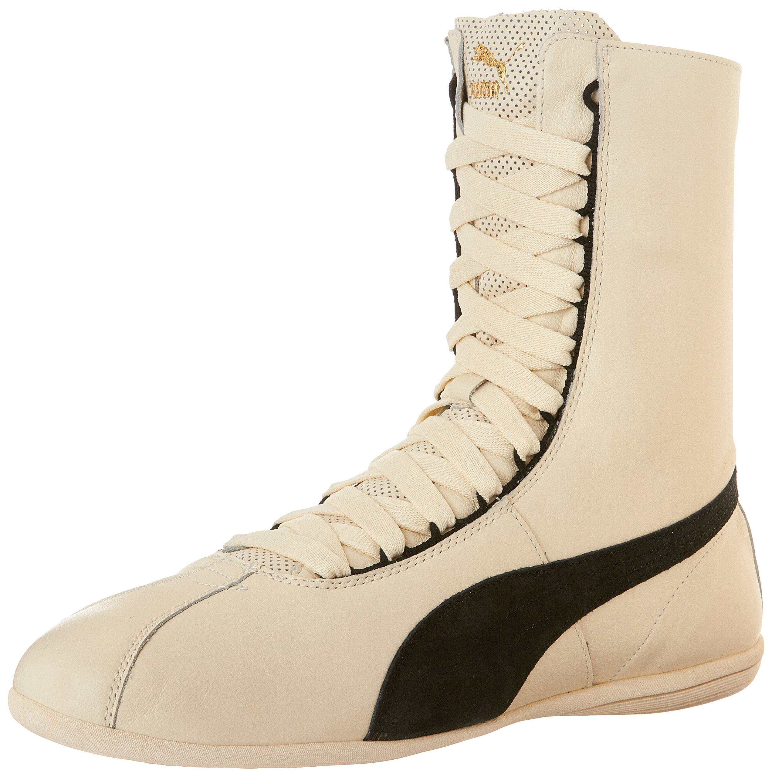 PUMA Women's Eskiva Hi Whisper White/Black High-Top Leather Cross Trainer Shoe - 9.5M