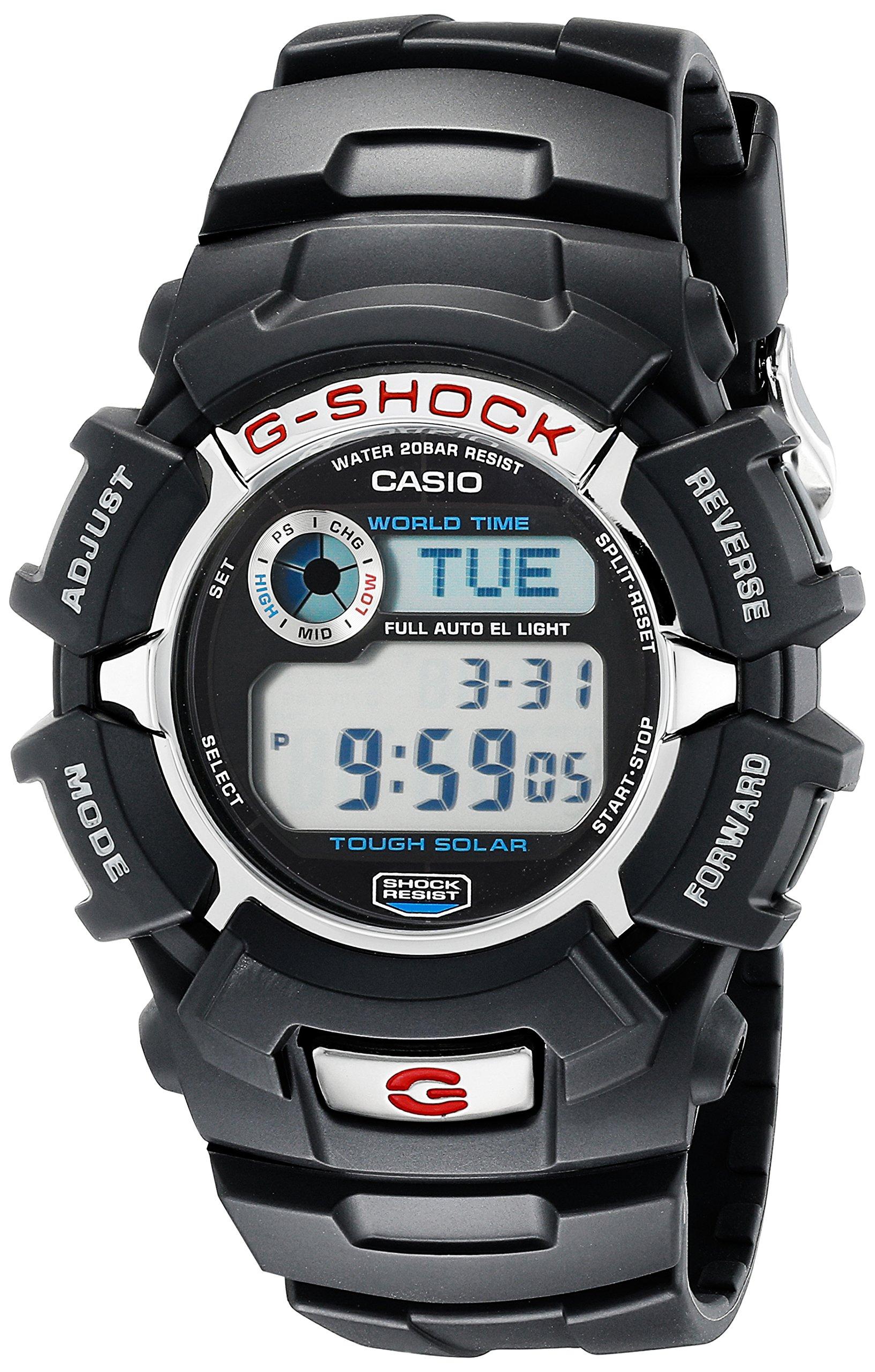 G-Shock G2310R-1 Men's Solar Black Resin Sport Watch by Casio