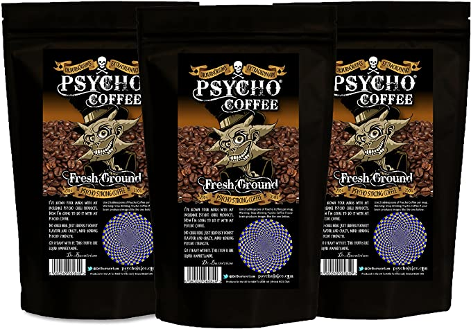 Psycho Coffee - Planta fresca Psycho café fuerte - 3 x 250g Bolsas