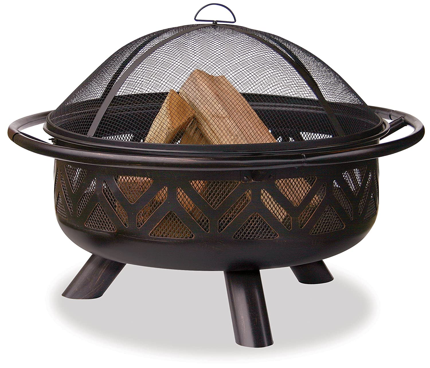 Blue Rhino WAD1009SP 36' Oil Rub Bronze Firebowl with Geometric Design