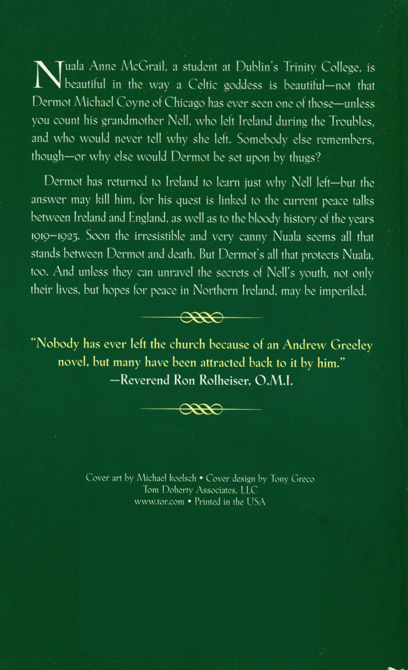 Irish Gold (Nuala Anne McGrail Novel S.): Amazon.es: Greeley ...