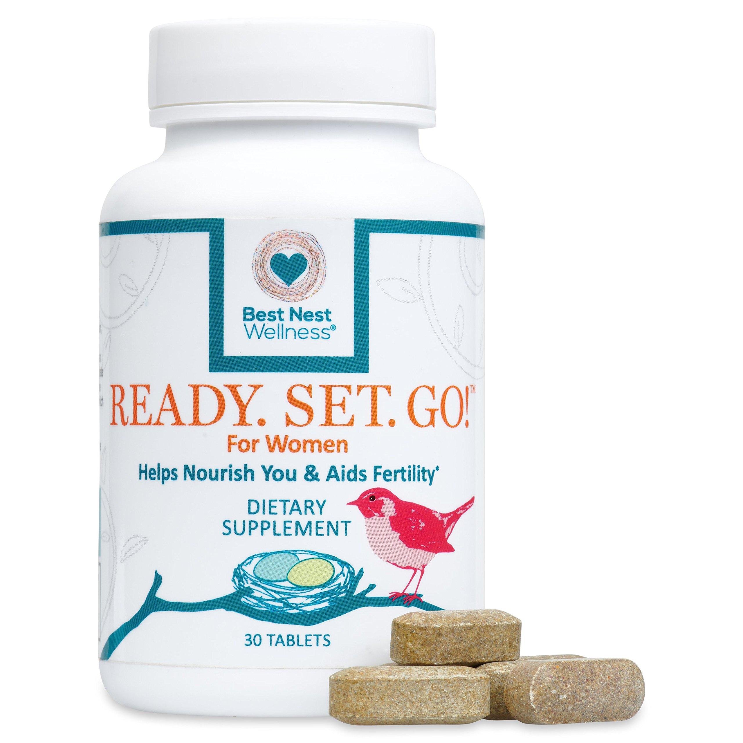 Ready. Set. Go! Best Nest Fertility Formula for Women, Doctor Recommended, Methylfolate, Whole Food, Antioxidants, Herbal Fertility Blend & Prenatal Nutrition, 30 Count by Best Nest Wellness