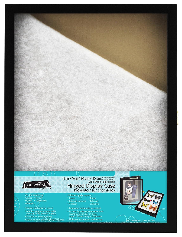 MCS 12x16 Inch Hinged Door Display Case, Black (65729) MCS Industries
