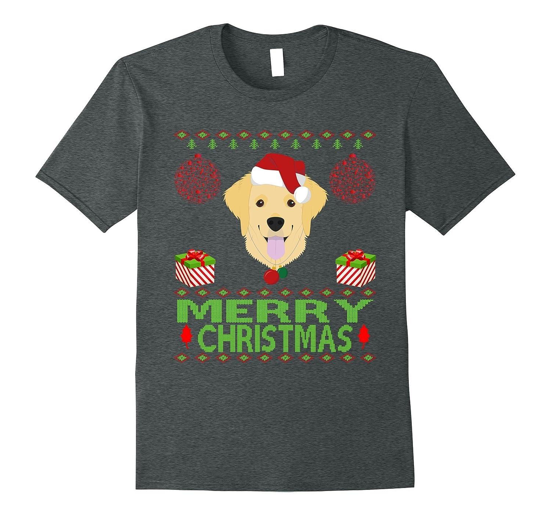 Golden Retriever Dog Merry christmas jumper style funny pet