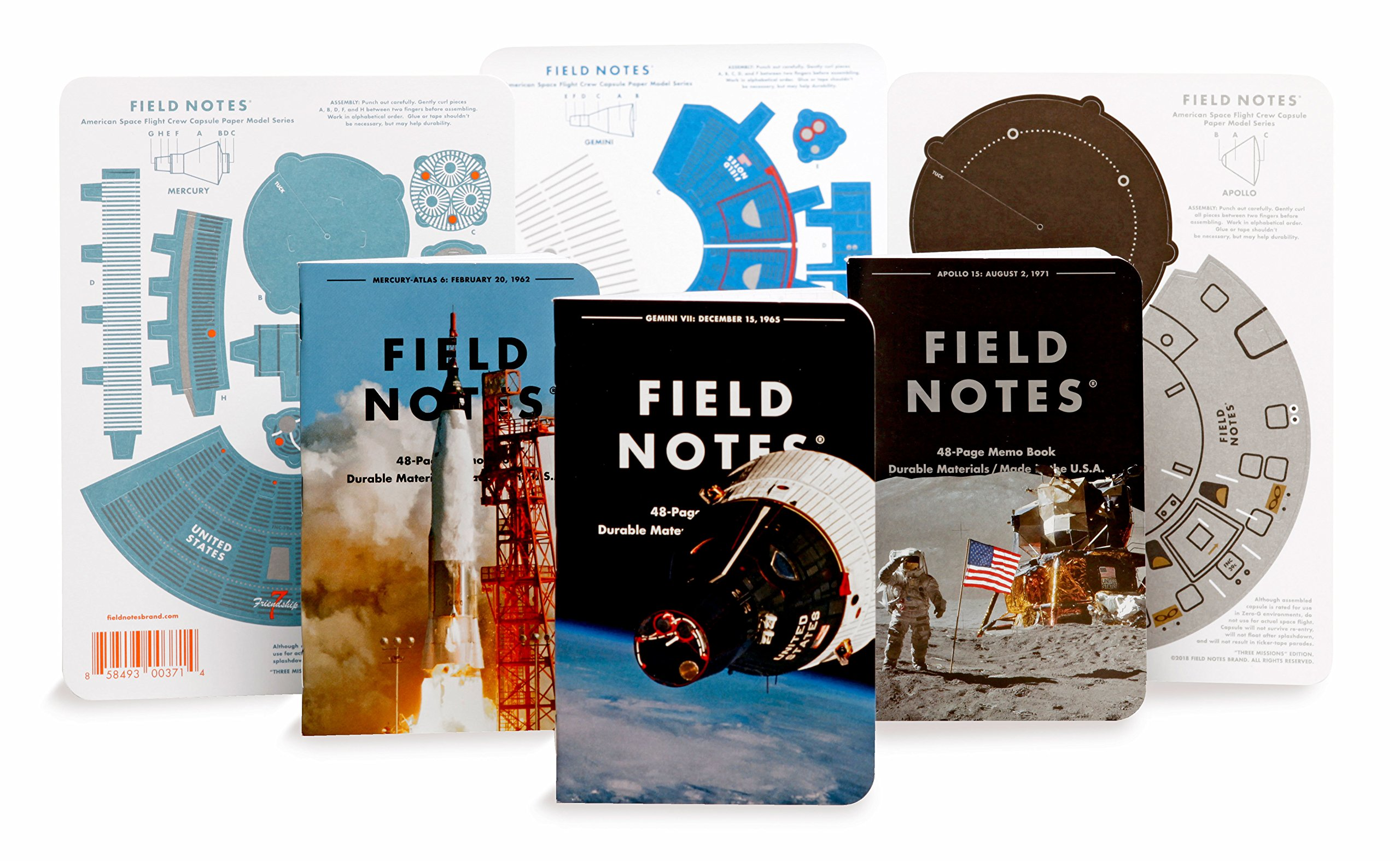 Field Notes Three Missions Special Edition Graph Grid Memo Books, 3-Pack (3.5x5.5-Inch) Summer 2018