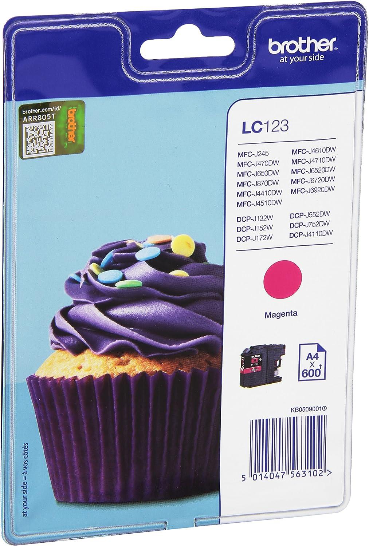 Brother Lc 123mbp Lc 123 Tintenpatrone Standardkapazität 600 Pages Blister Magenta Bürobedarf Schreibwaren