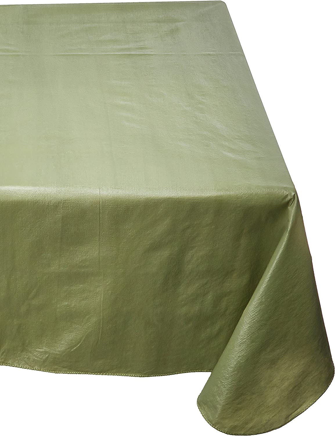 Carnation Home Fashions Vinyl Tablecloth with Polyester Flannel Backing, 52-Inch, by 70-Inch, Sage (SFLN-70/42)
