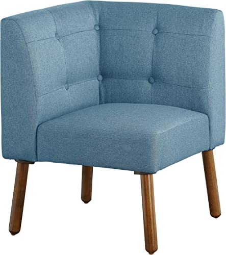 The Mezzanine Shoppe Playmate Mid Century Fabric Upholstered Tufted Back Corner Chair