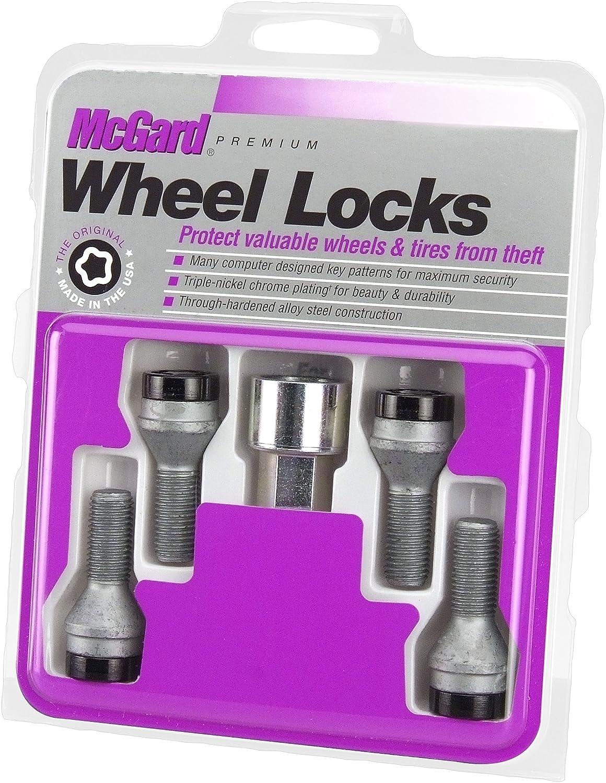 McGard 27179 Chrome Bolt Style Cone Seat Wheel Locks, M12 x 1.5, Set of 4