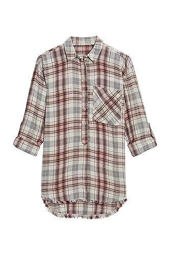 next Mujer Camisa Larga Cuadros Corte Regular