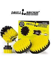 Drillbrush 4 Piece Nylon Power Brush Tile and Grout Bathroom Cleaning Scrub Brush Kit