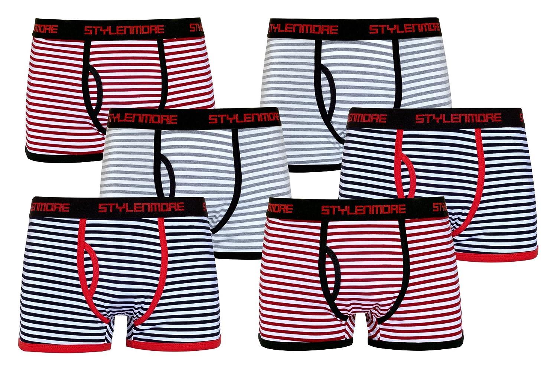 stylenmore 6er-Pack Herren Boxershorts Retroshorts Trend Varianten zur Auswahl Geschenkverpackung