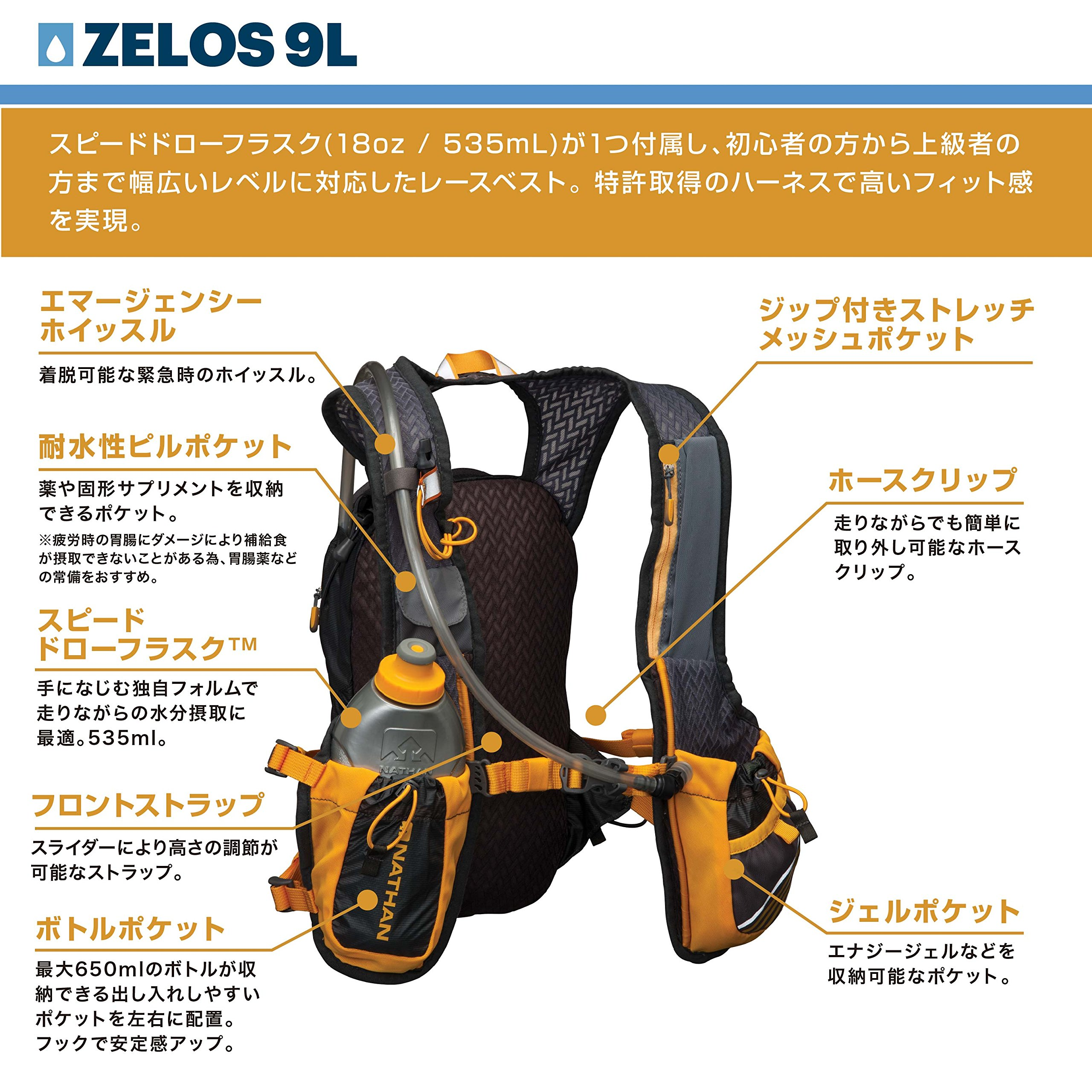 Nathan Zelos 2-Liter Hydration Vest, Nathan Grey, One Size by Nathan (Image #4)