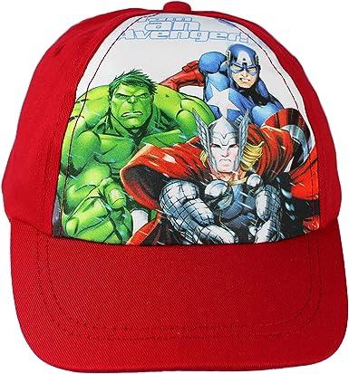 Gorra de béisbol de los Vengadores de Marvel para niño, Color Rojo ...