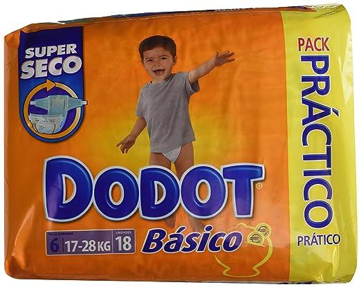 Dodot - Básico Super Seco - Pañales Talla 6-18 unidades: Amazon.es: Salud y cuidado personal