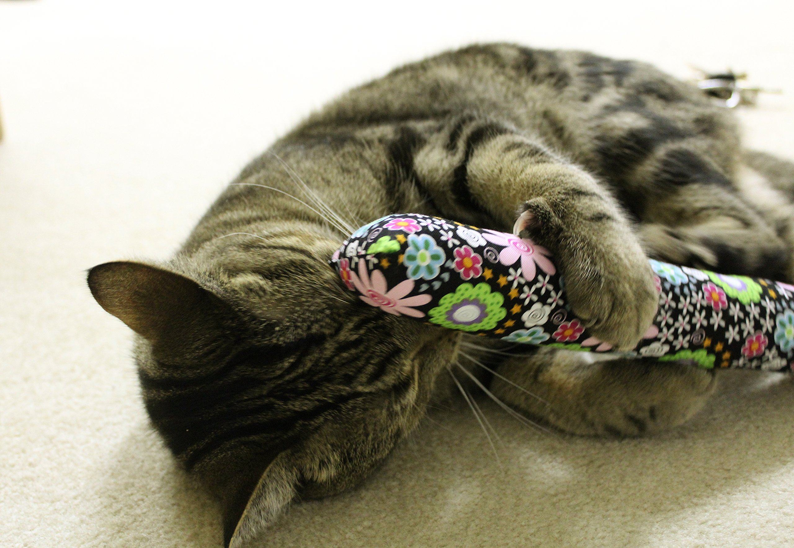 11'' Kitty Stick Catnip Cat Toy (Pack of 4), Assorted Colors & Patterns by Kitty Kandy (Image #2)