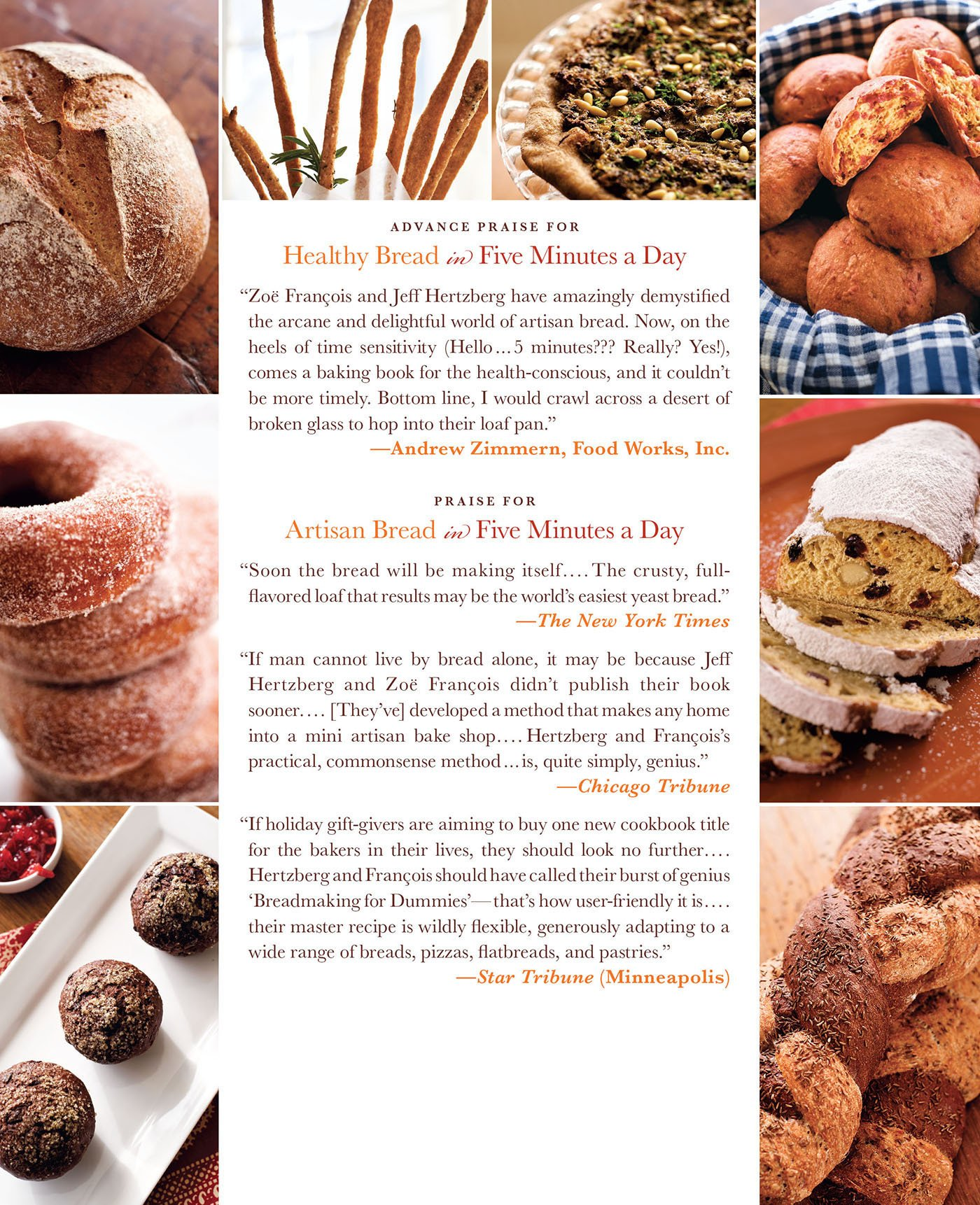 Healthy Bread in Five Minutes a Day: 100 New Recipes Featuring Whole Grains, Fruits, Vegetables, and Gluten-Free Ingredients by Hertzberg, Jeff/ Francois, Zoe/ Luinenburg, Mark (PHT)