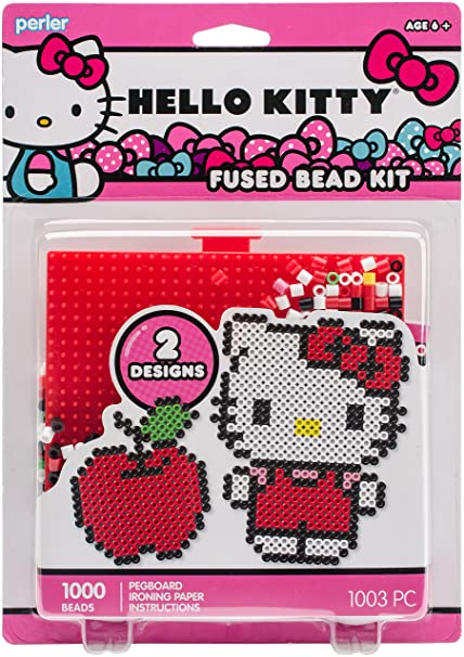 Amazon Perler 80 63031 Beads Hello Kitty And Red Apple Fused