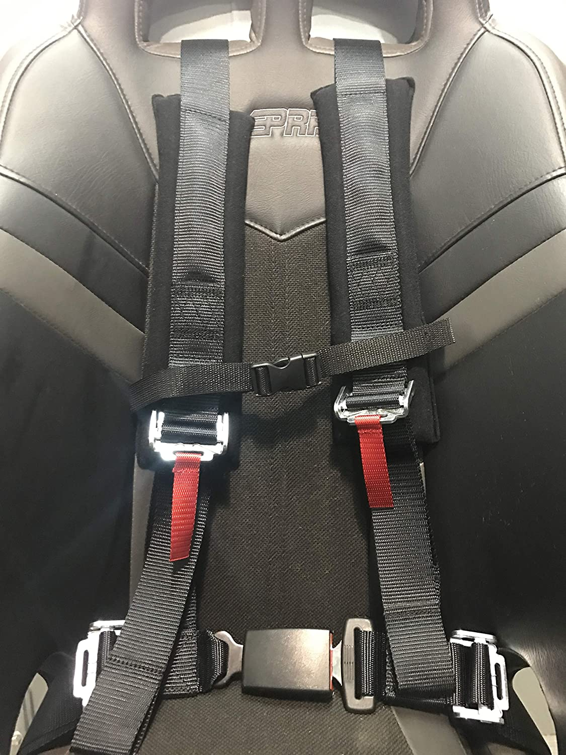 Ez Buckle Technology 4 Point Harness with 2 Inch Padding Aces Racing Black