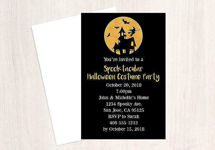 amazon com halloween invitation costume party invitation