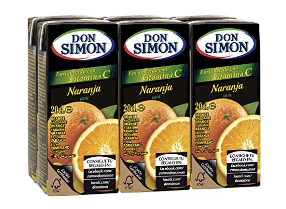 Don Simon Zumo de Naranja - Pack de 6 x 20 cl - Total: 120 cl: Amazon.es: Amazon Pantry