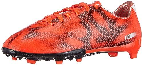 free shipping 07280 045eb adidas - F10 Firm Ground, Scarpe da Calcio per Bambini e Ragazzi, Rosso (