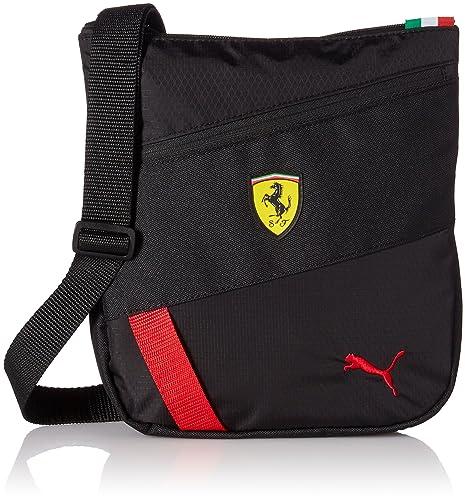 9207c78464 Puma Unisex Ferrari Fanwear Portable Black Messanger Bag: Amazon.in: Shoes  & Handbags