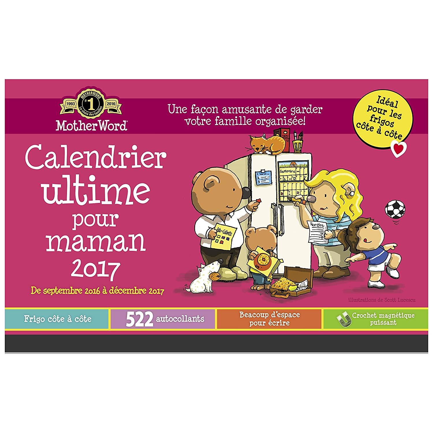 MotherWord DDTB11-2817 Mom Ultimate 16-Month Wall Calendar, September 2016-December 2017, English, 12x12-Inch