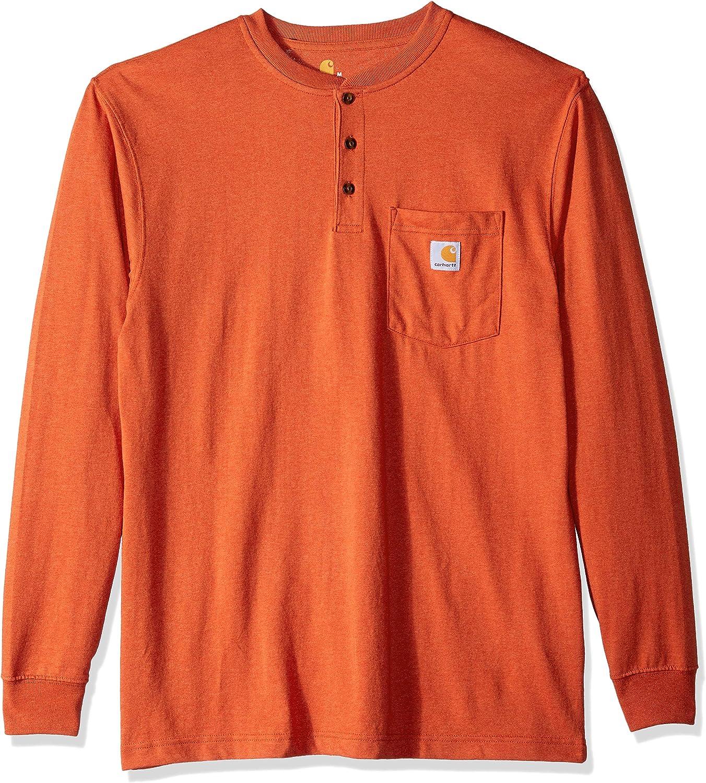 Carhartt Mens Workwear Pocket Henley Shirt Work Utility T-Shirt