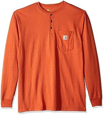 d80de84e45 Carhartt Men s Workwear Pocket Long Sleeve Henley Shirt at Amazon Men s  Clothing store