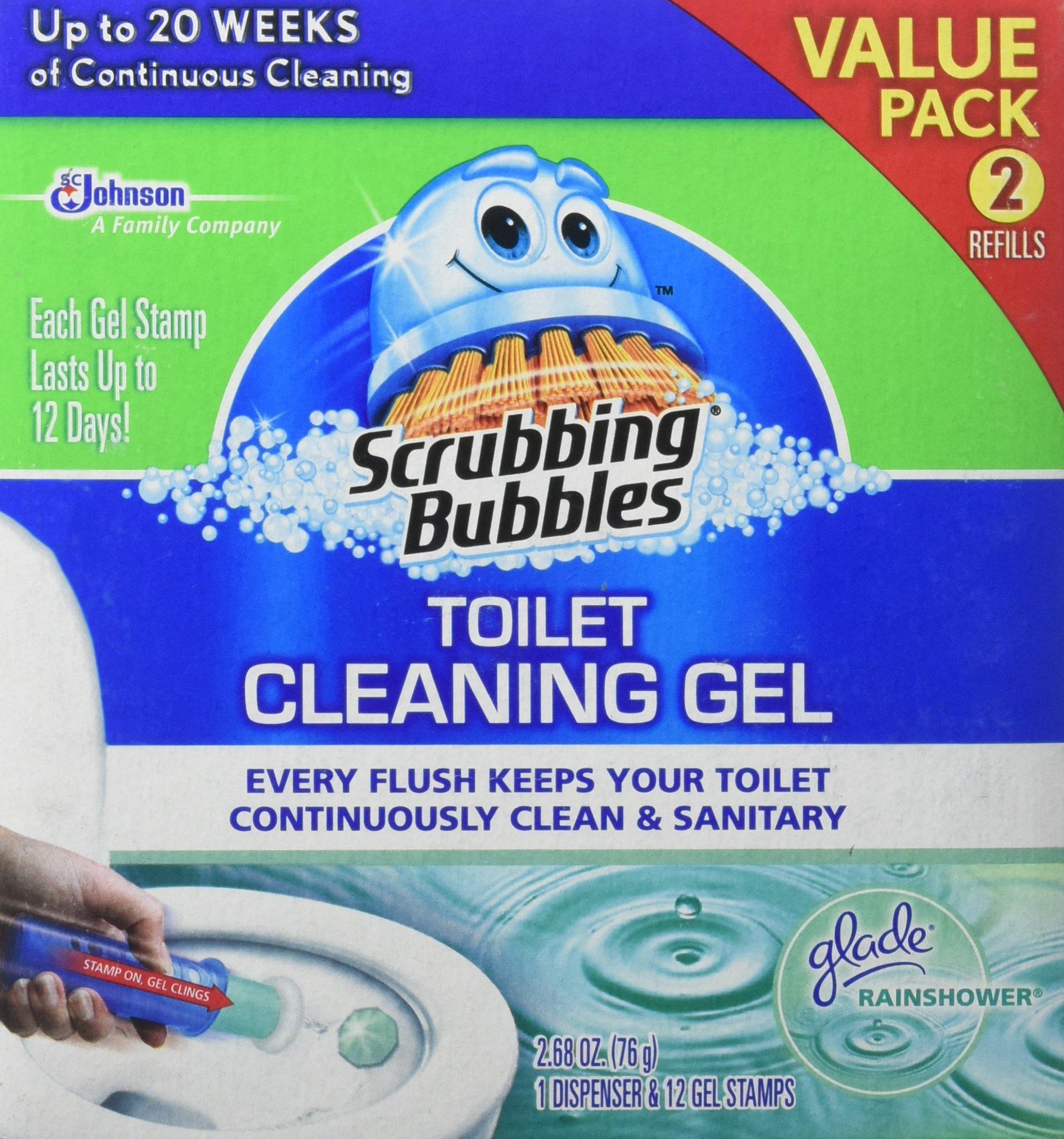 Scrubbing Bubbles Toilet Cleaning Gel Fresh, 2Count, 2.68 oz by Scrubbing Bubbles
